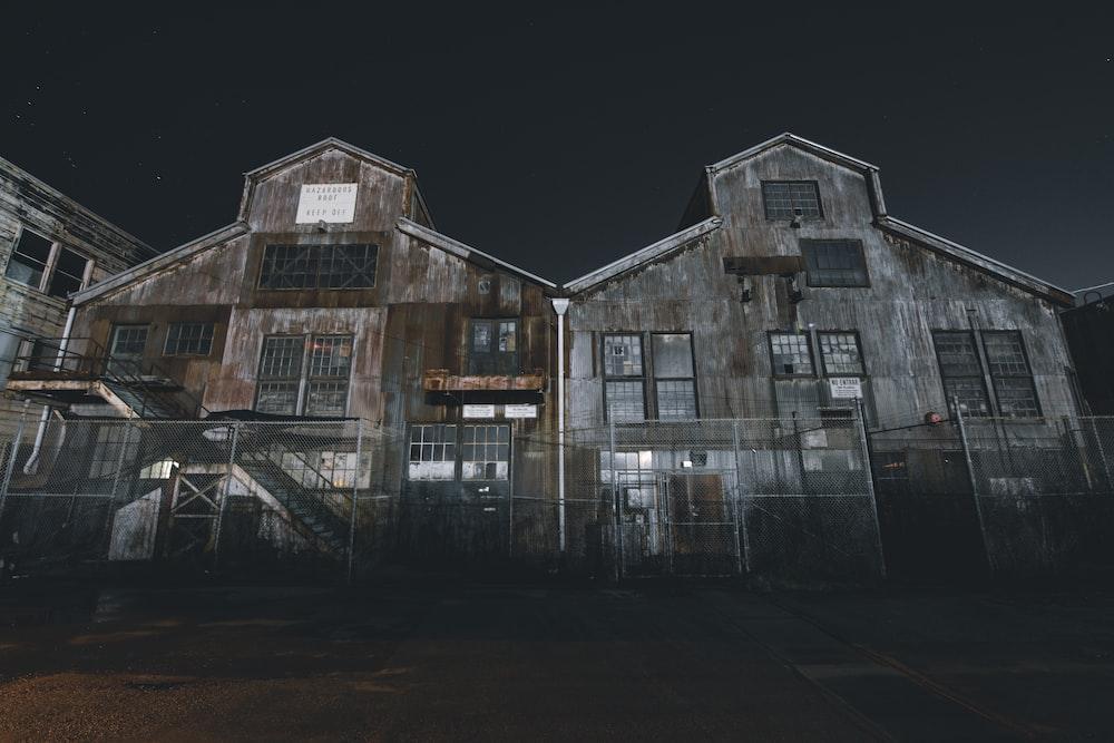 two barnyard at night