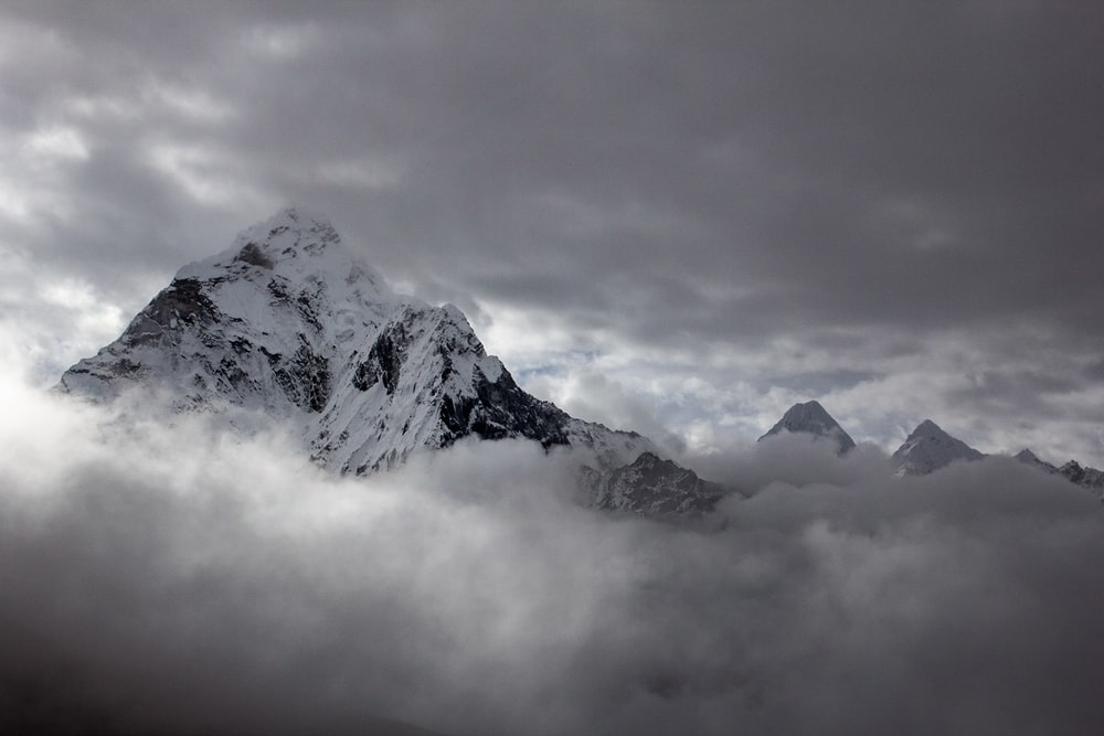 landscape photography of mountain cover by snow