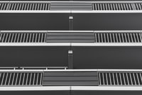 three stainless steel 3-storey building terrace rails