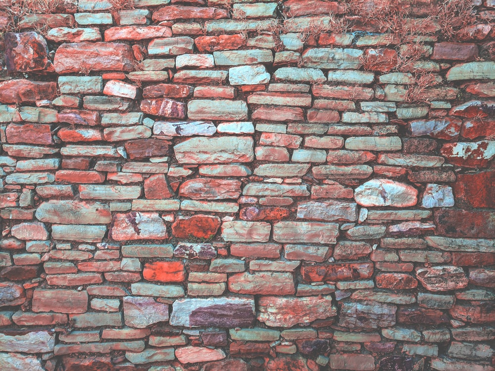 red pavement bricked wall
