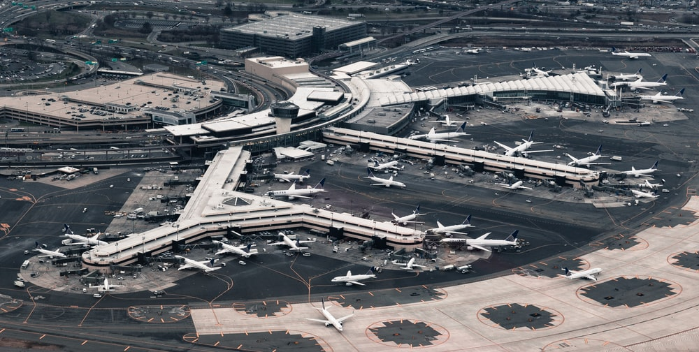 aerial photography of airport