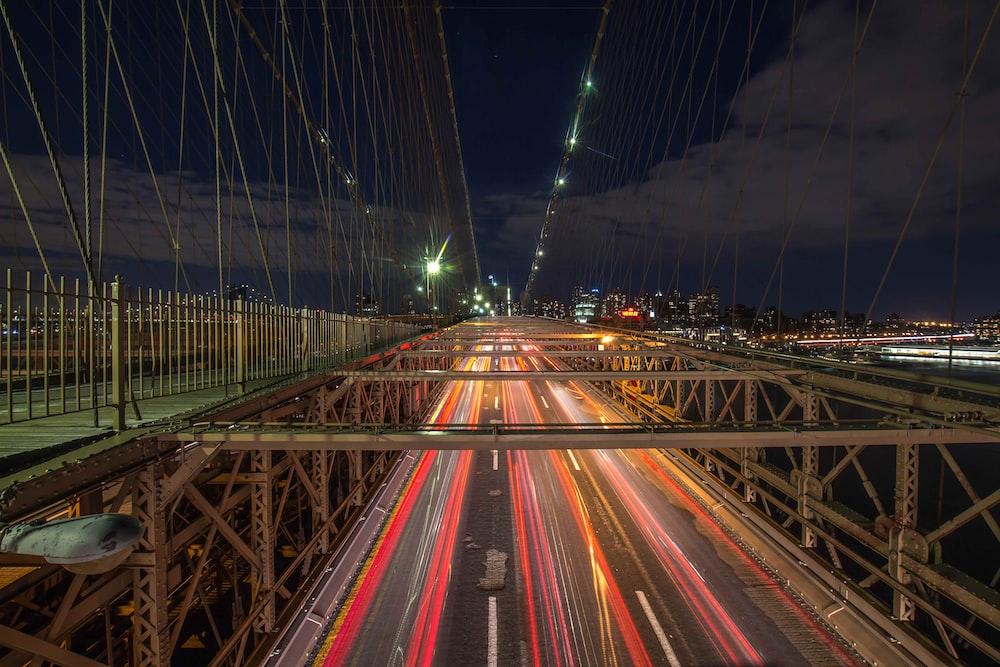 time lapse photography of bridge