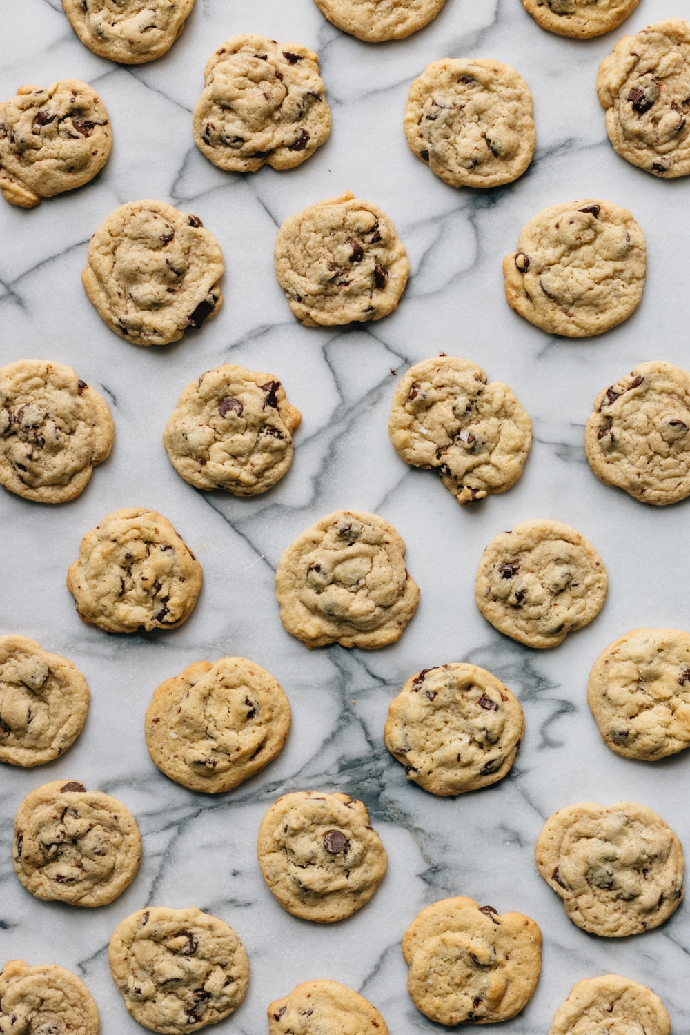 baked cookies on white concrete surface
