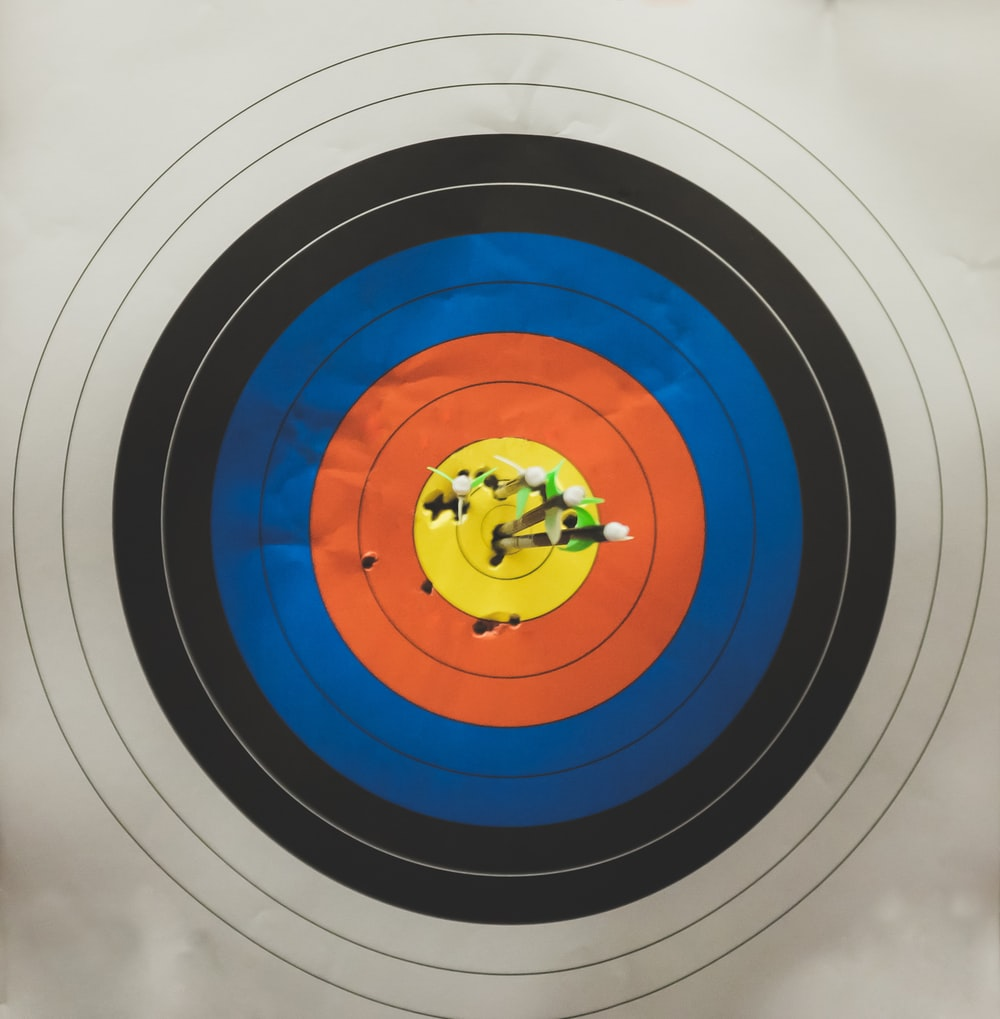 arrows in shooting target