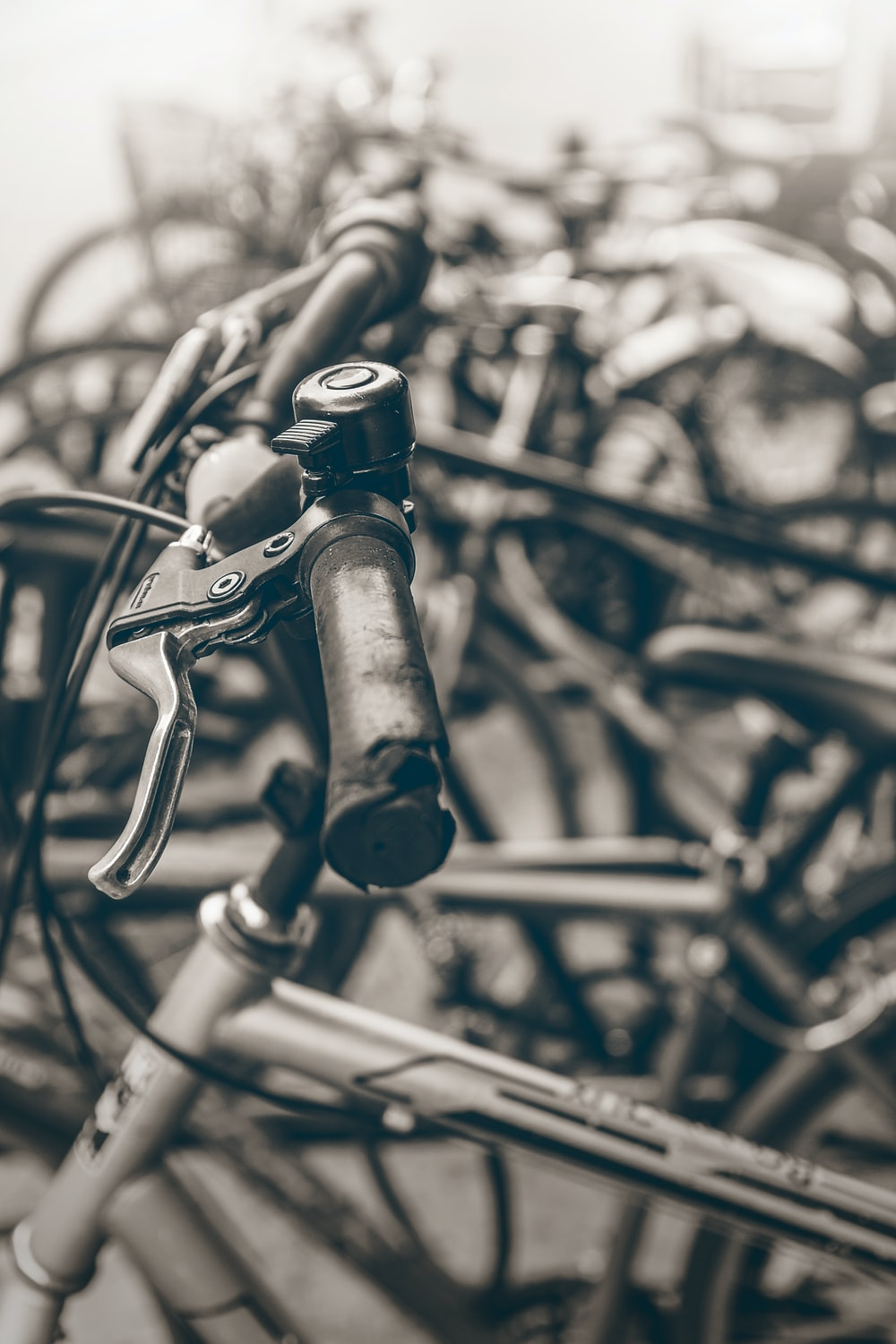 selective focus photo of gray bicycle