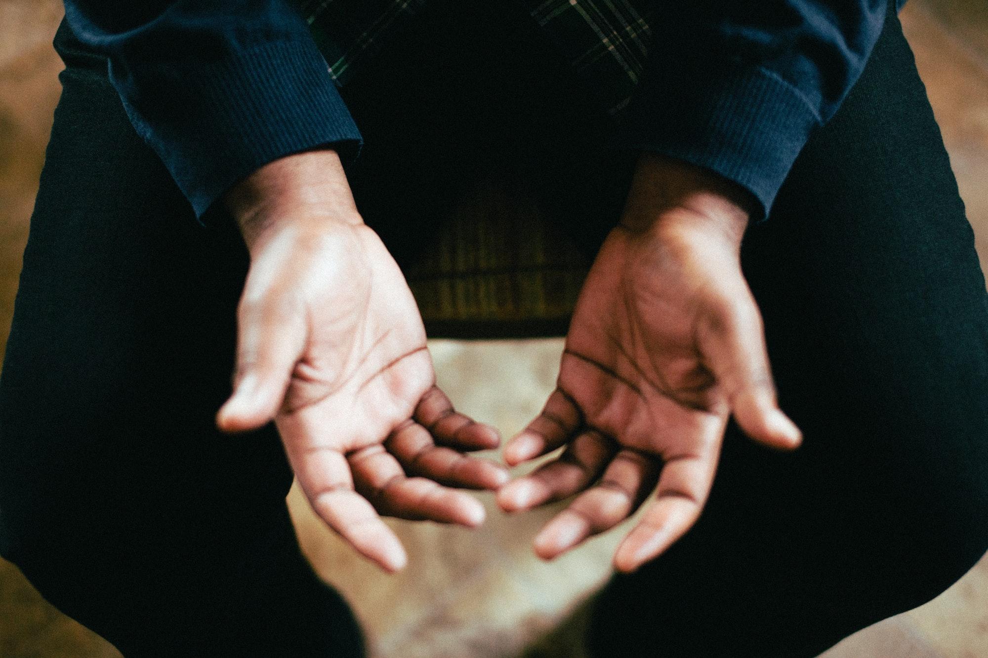 Фотография рук мужчины