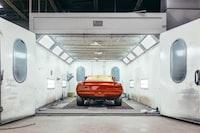 photo of orange vehicle