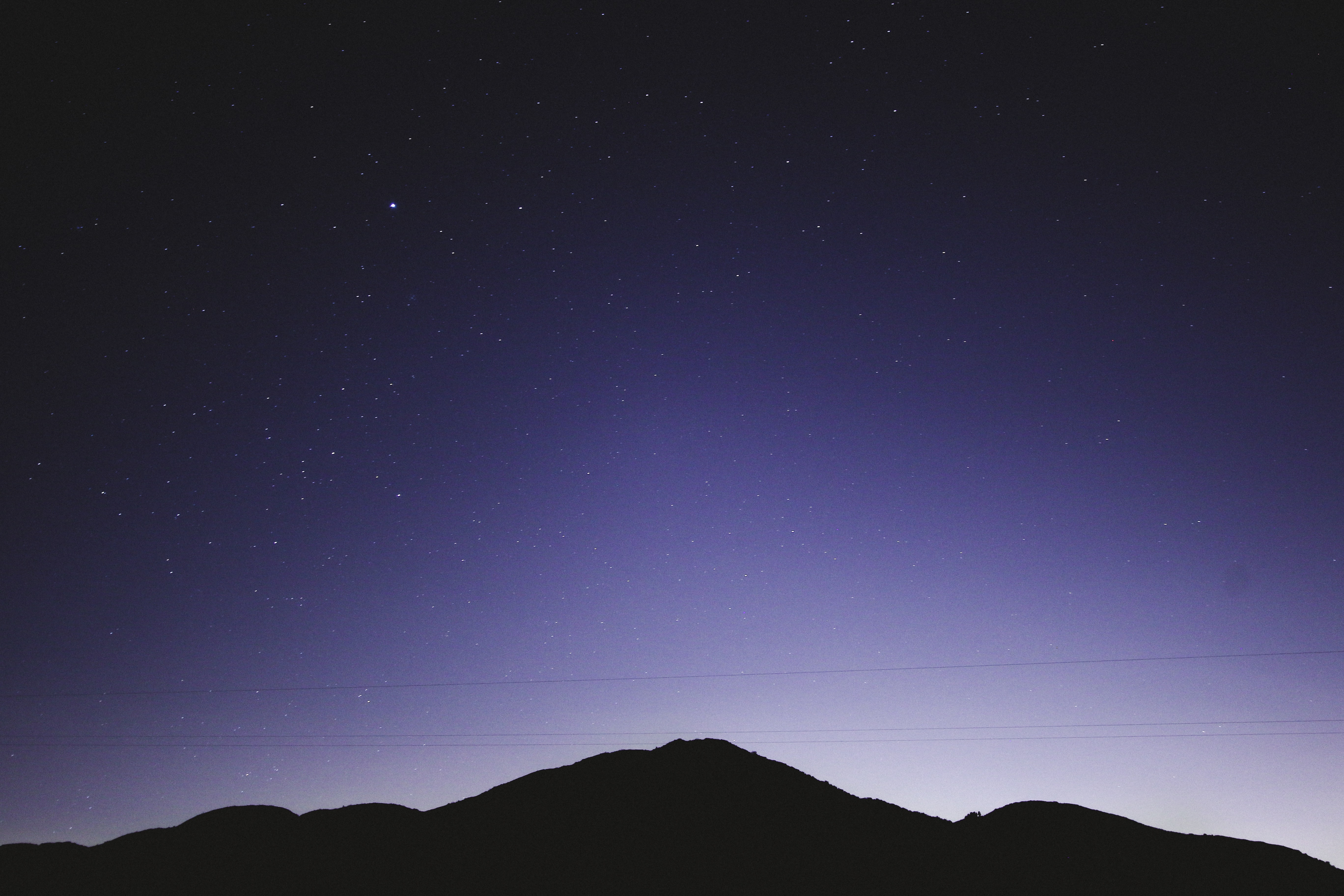 mountain during nighttime view photo