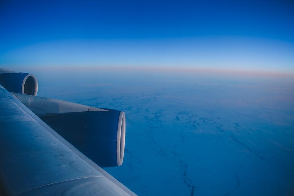 blue airplane