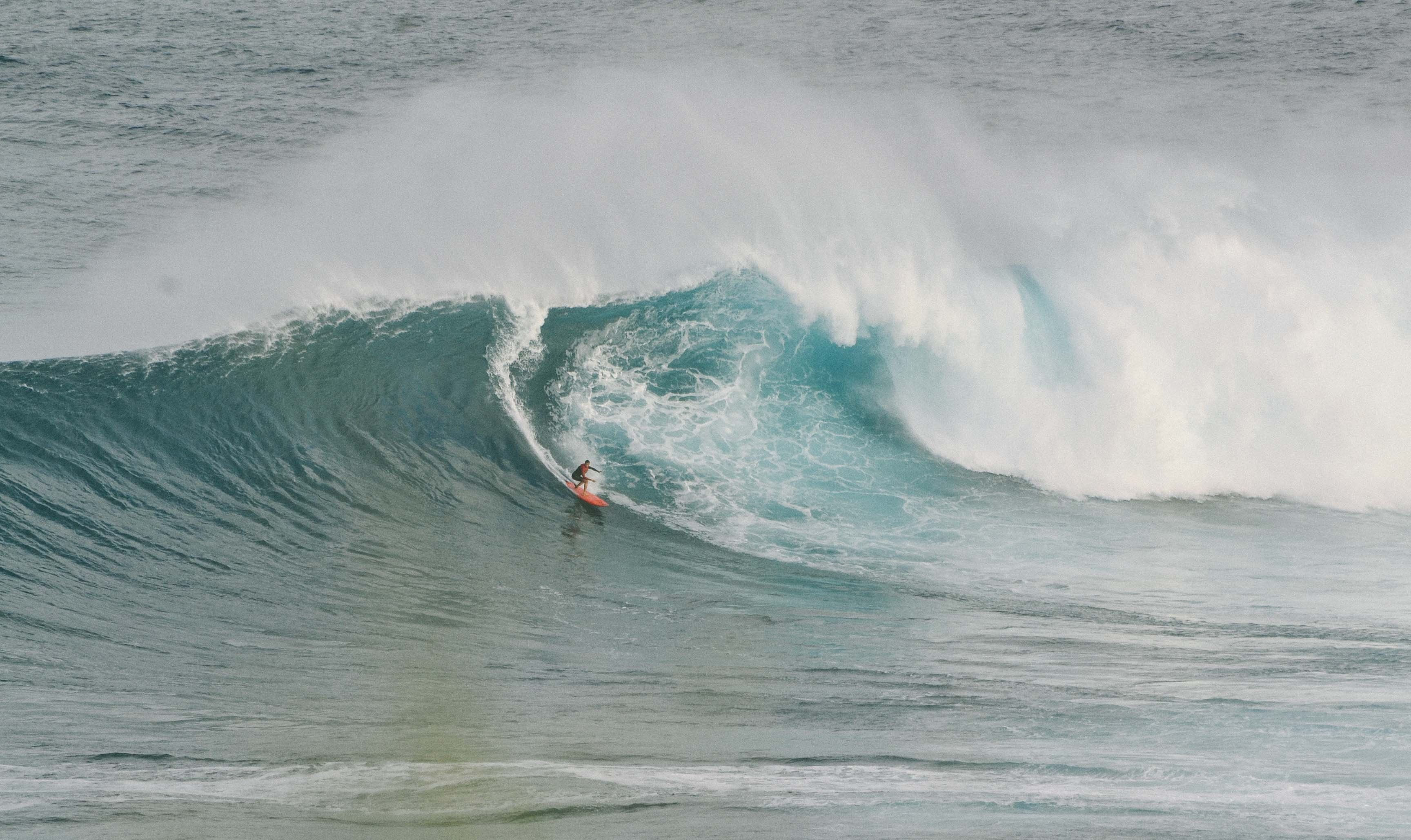 person surfing during daytime