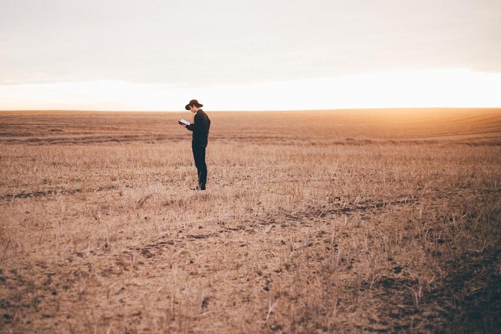 man standing on ground