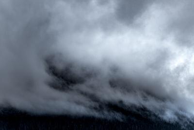 Mist descending on a slope