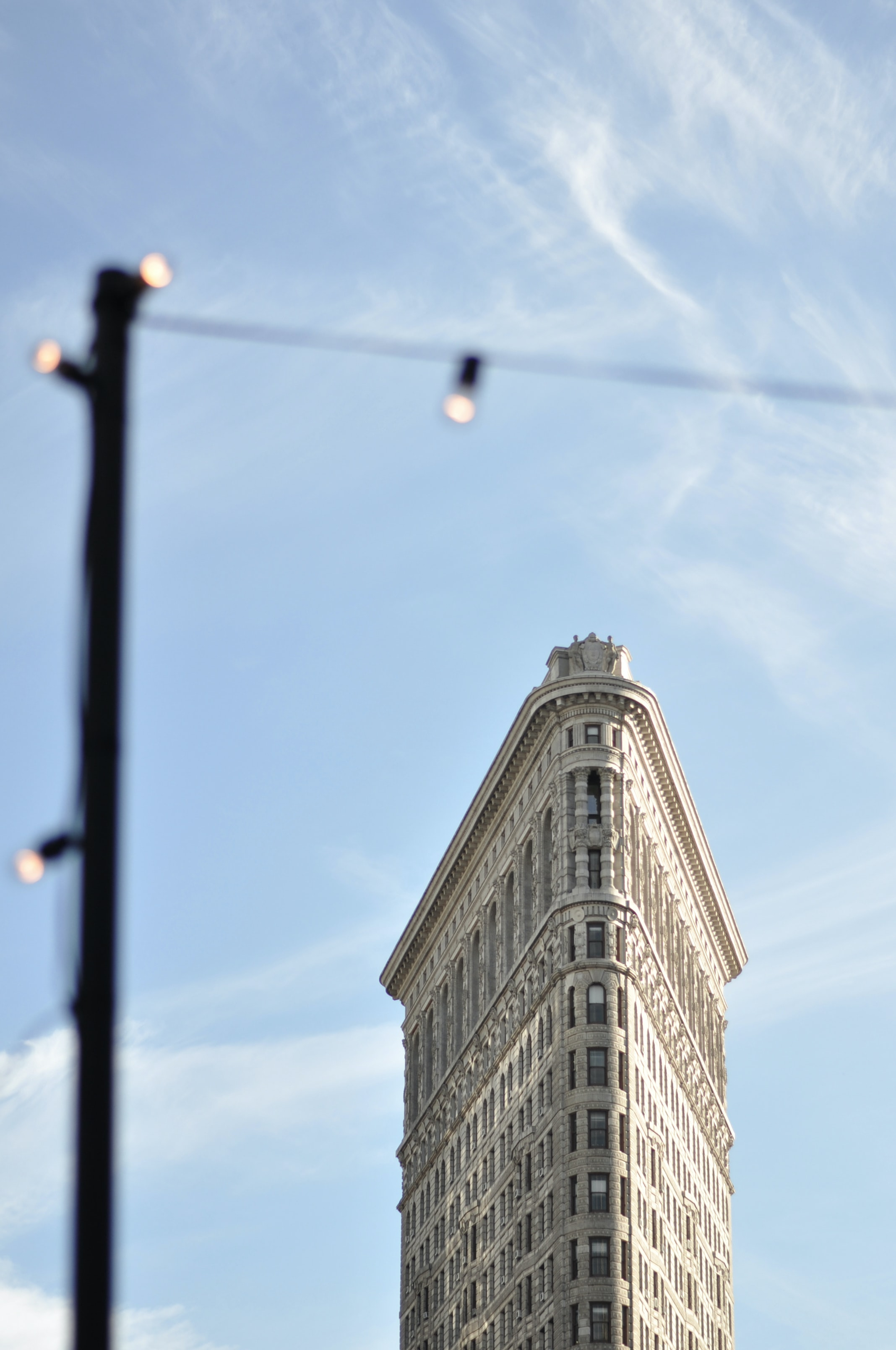 selective focus photo of flatiron building