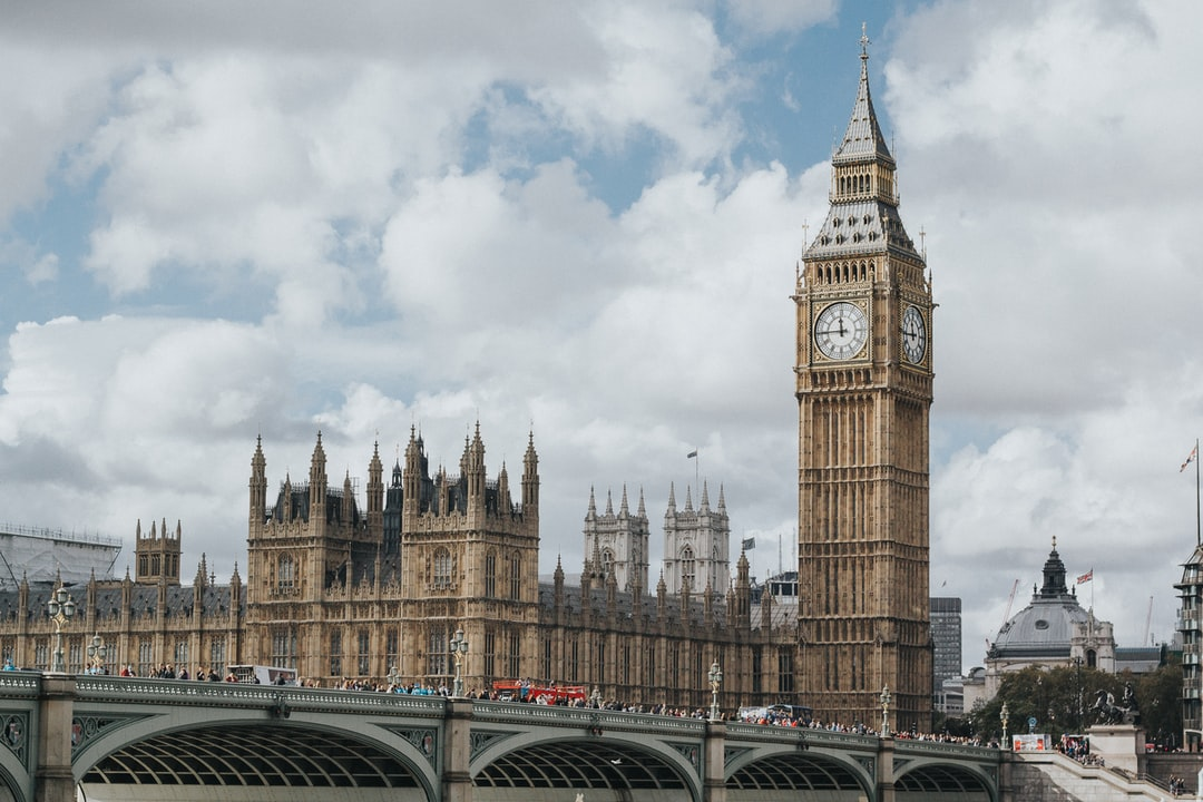 View of Big Ben in London with the Parliament building in the background