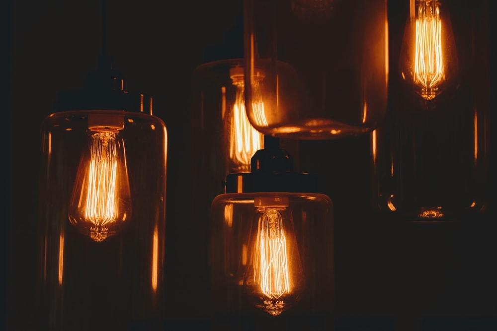 amber glass lamps