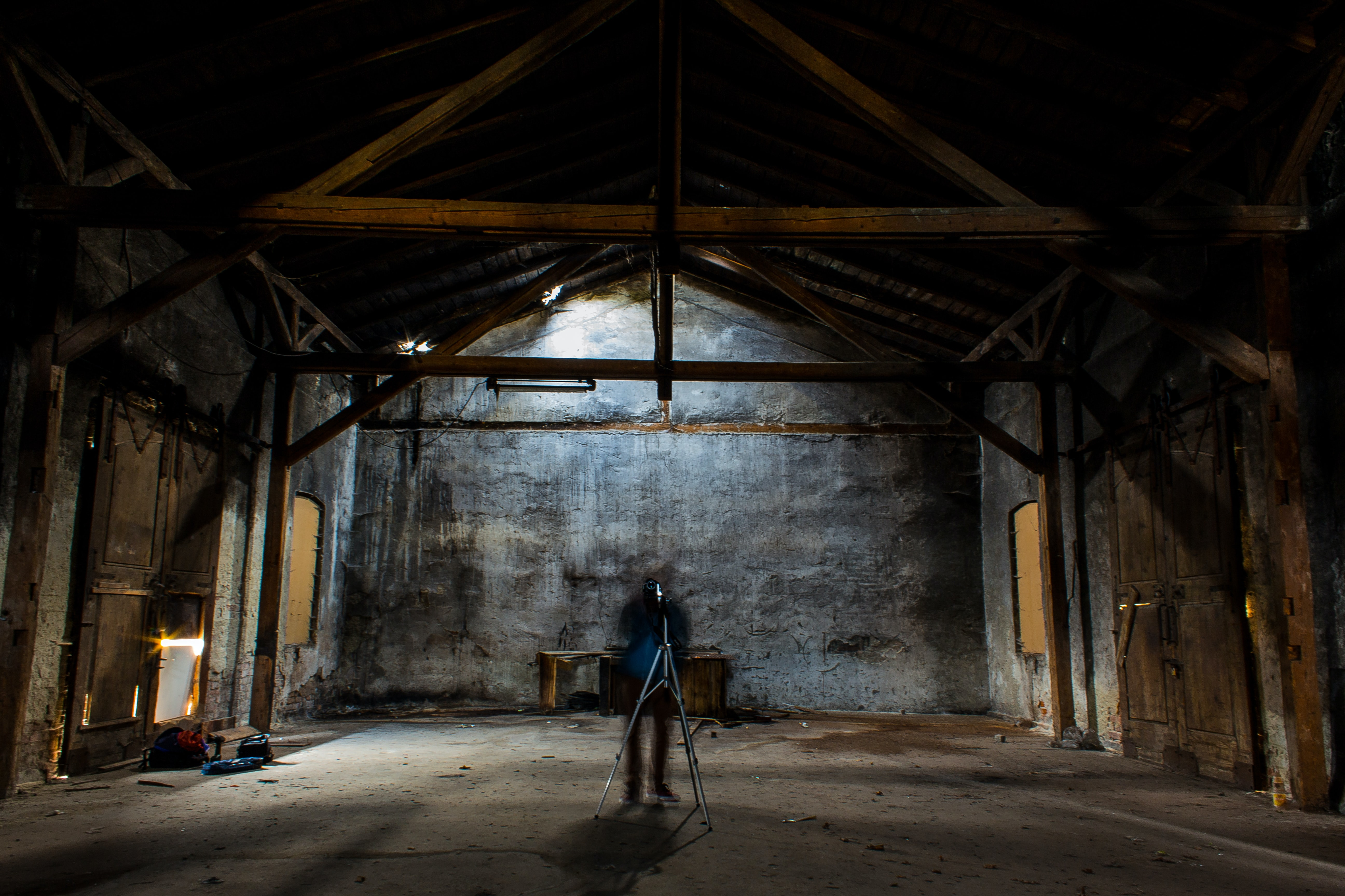 Ghostly figure in the barn