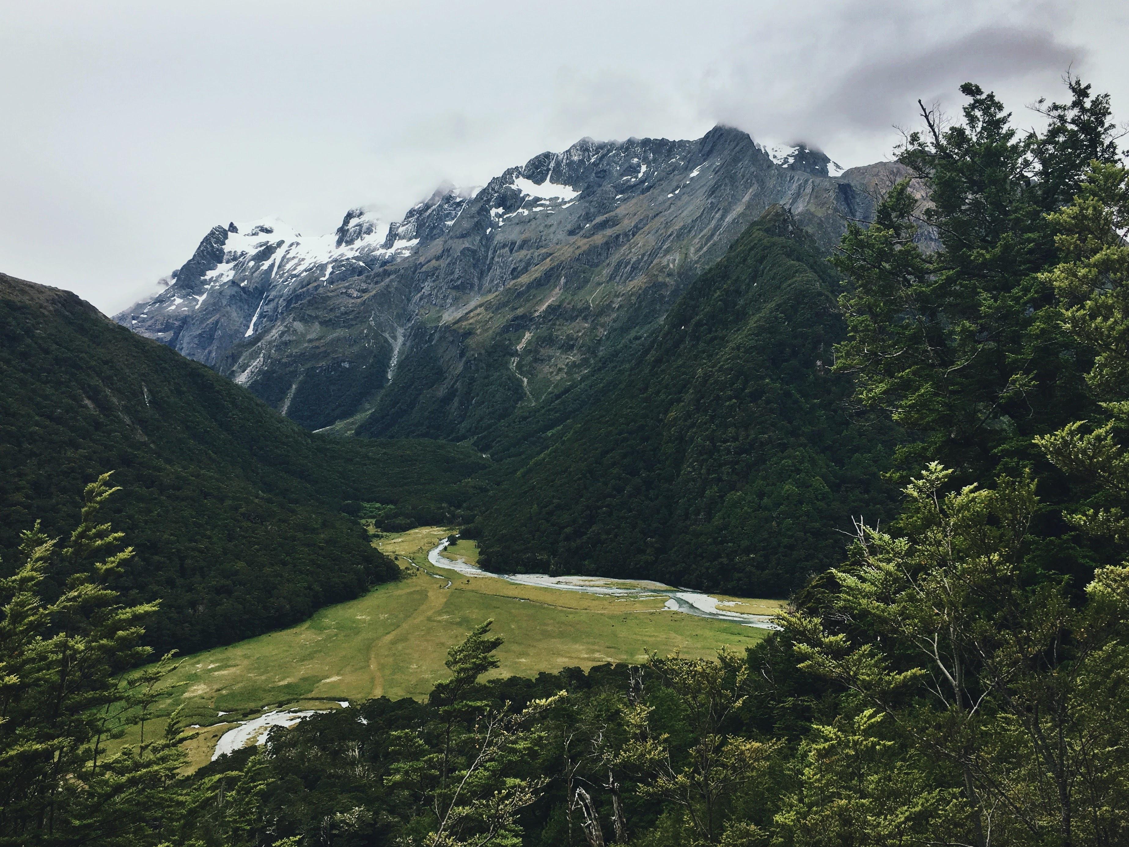 panoramic photography of mountain