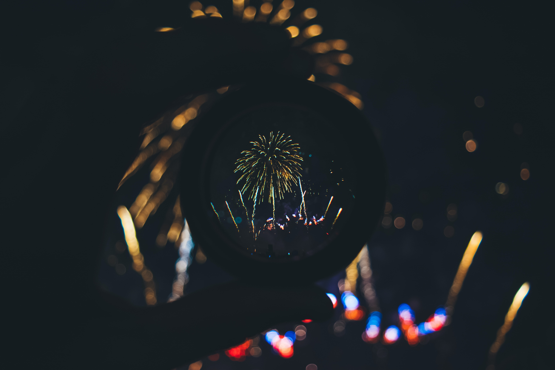 fireworks artwork at night