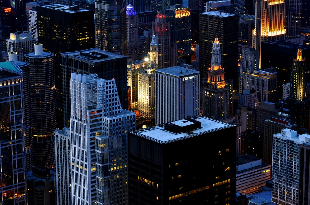 aerial photography of buildings