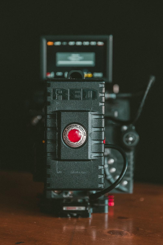 close-up photography of black camera