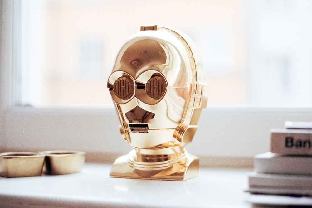 C-3PO decor on white surface