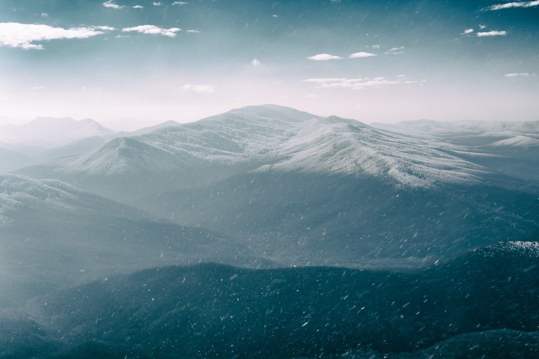 Snowfall in the mountains