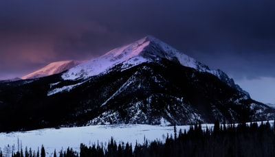 snow covered mountain photography moody teams background