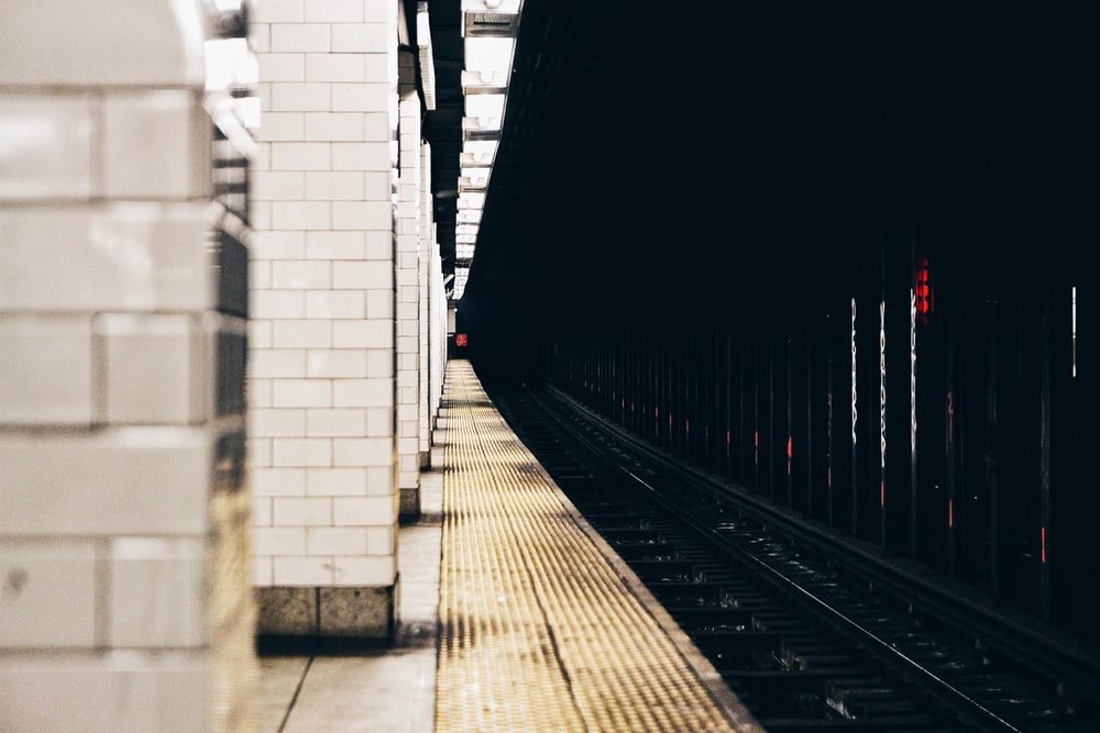 photo of train railings