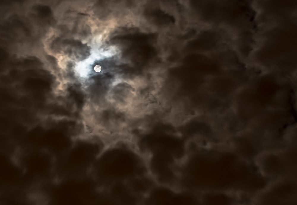 full moon on cloudy sky during nighttime