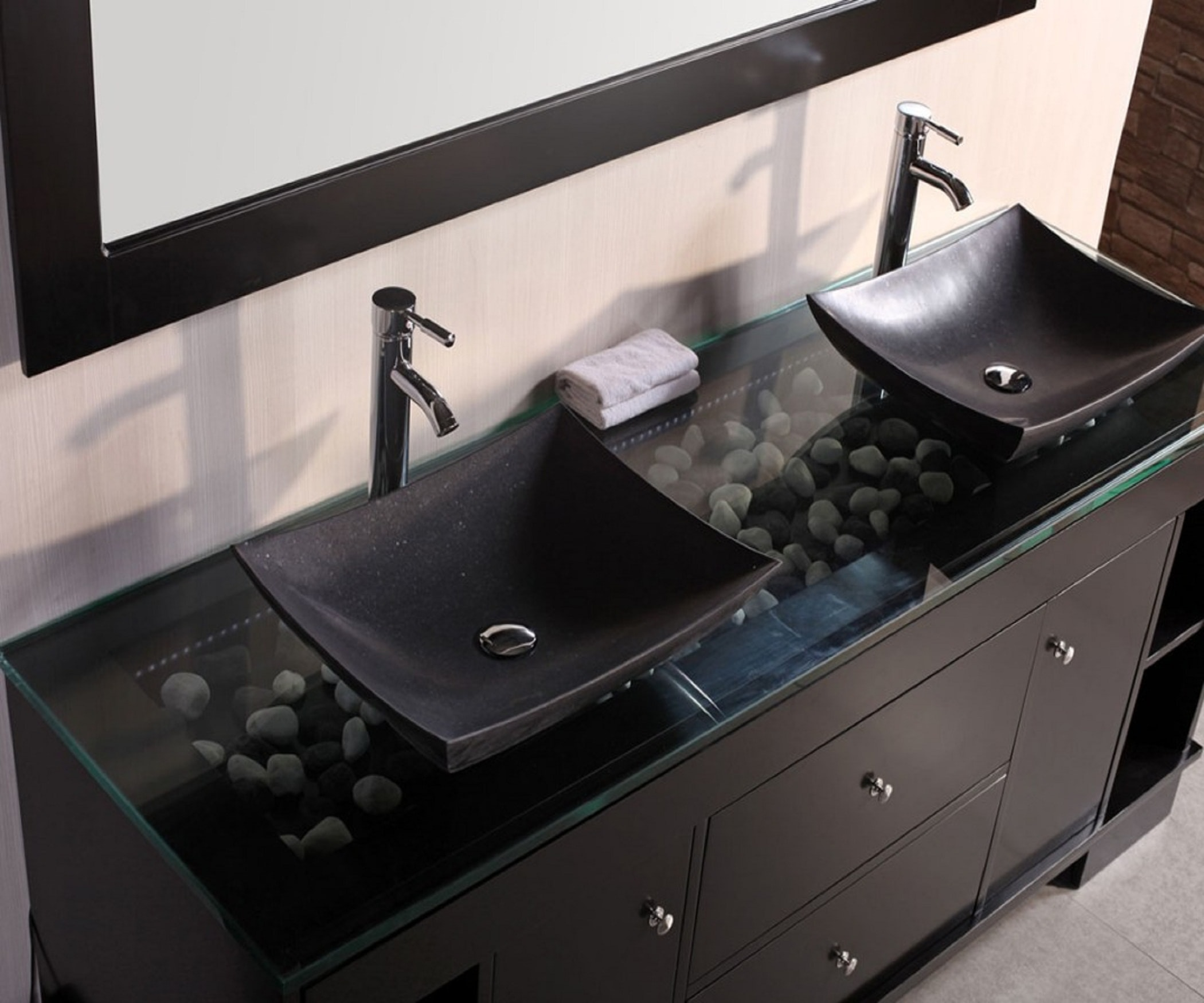 A His and Hers bathroom vanity.