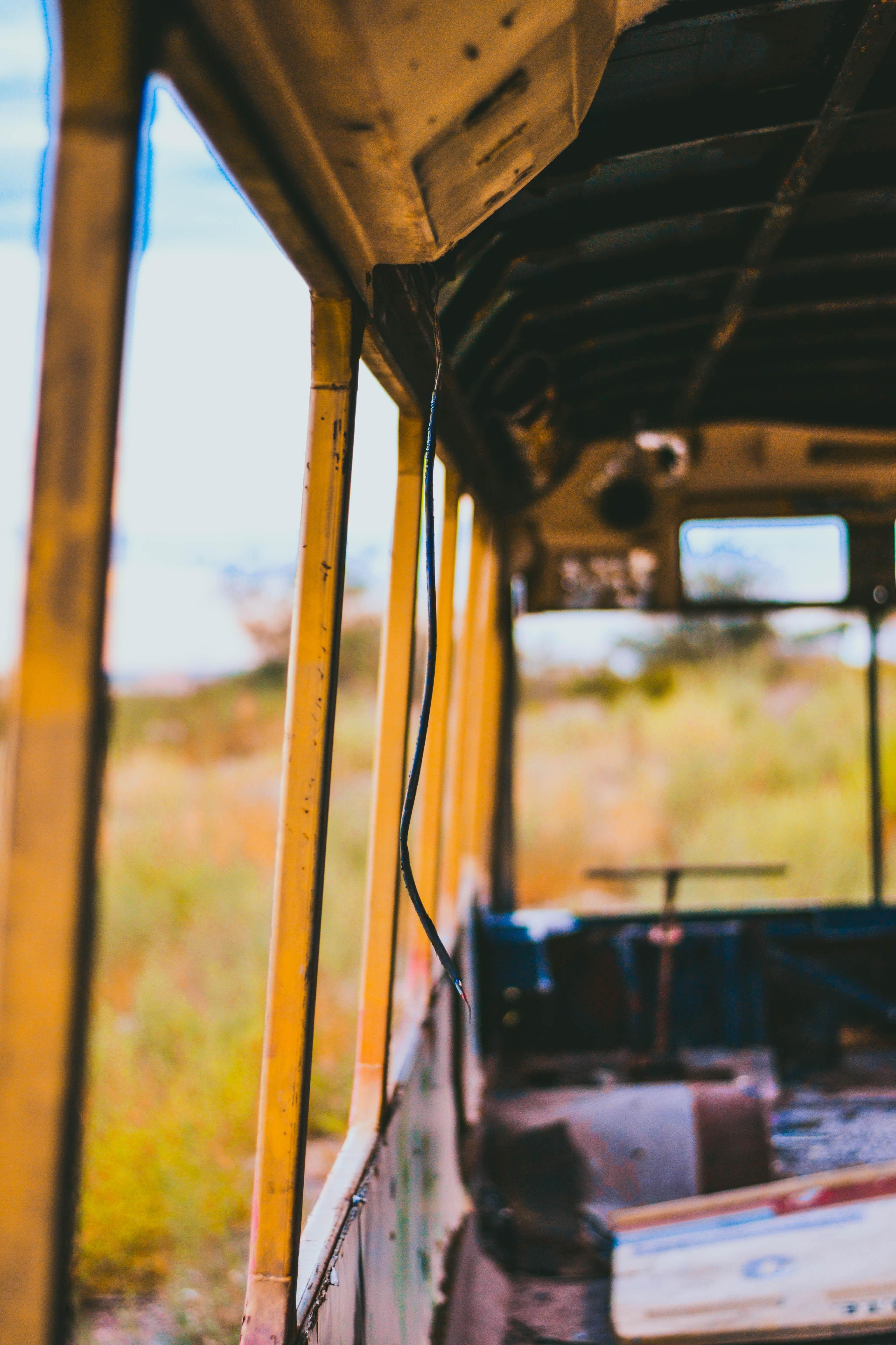 photo of bus interior