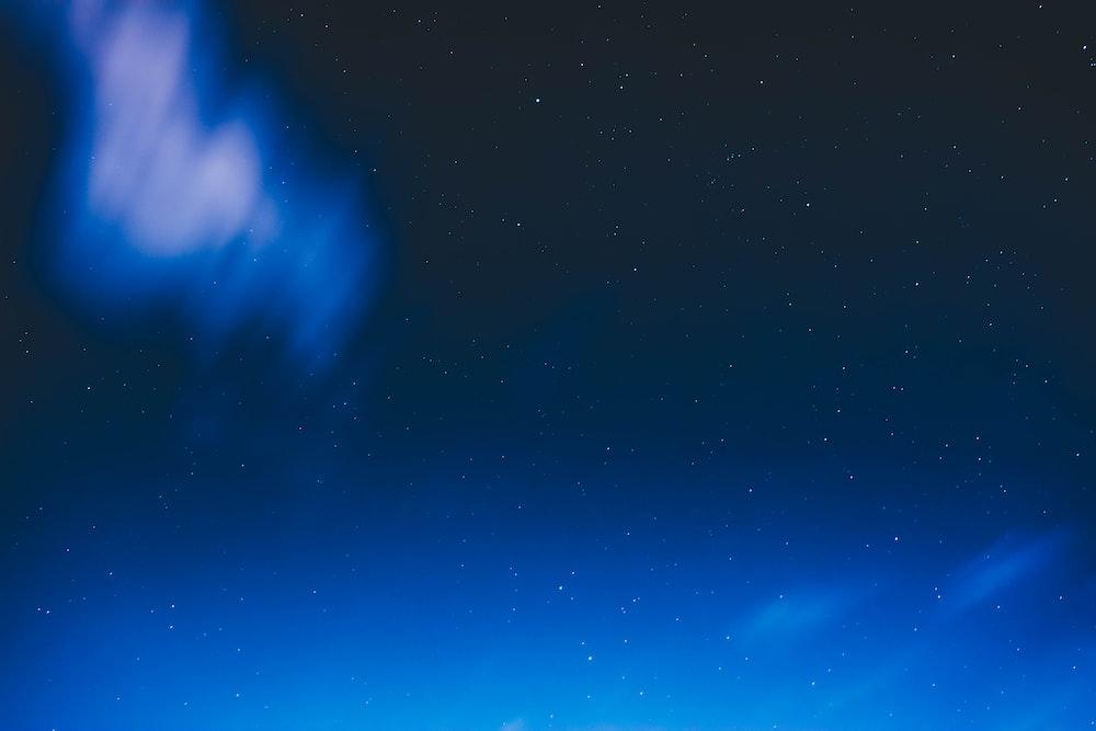 dark blue skies with stars