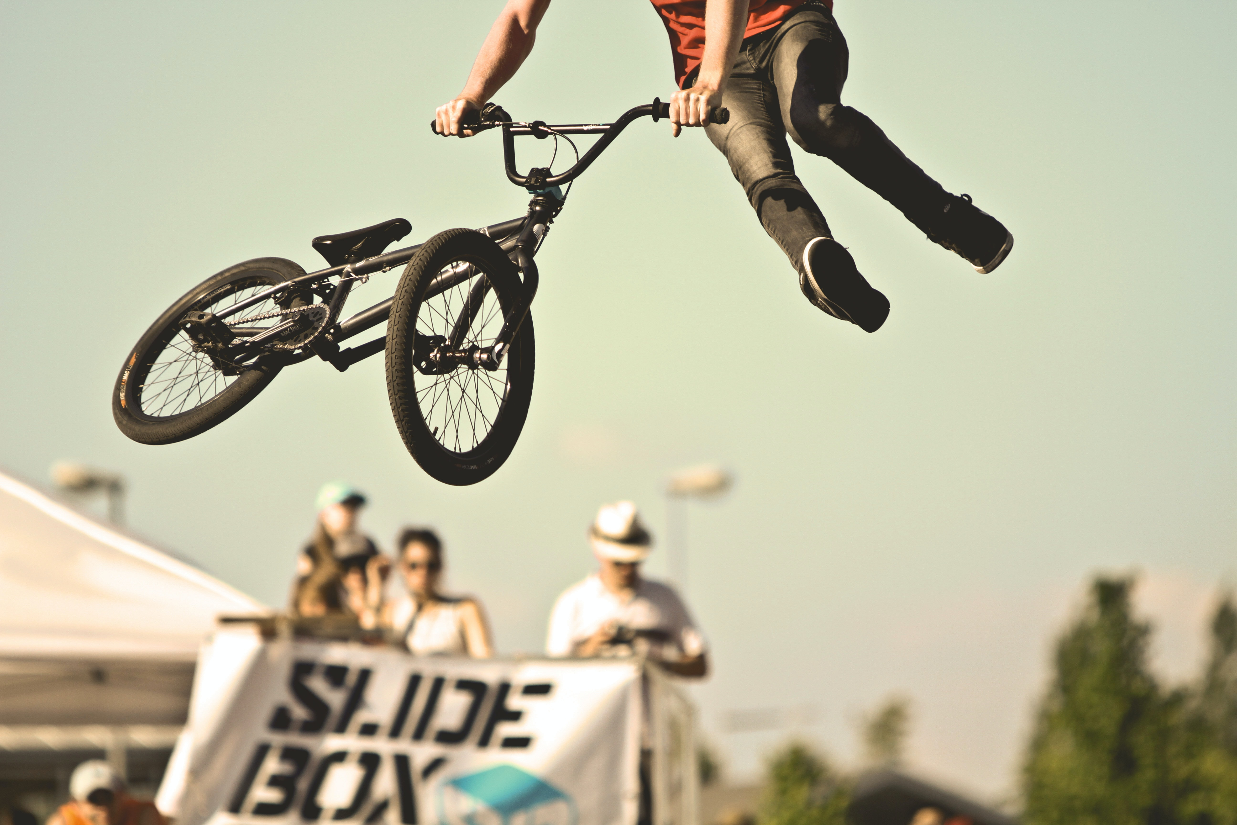 person doing BMX tricks
