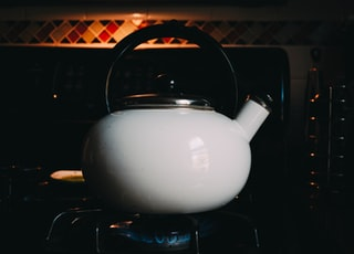 white and gray kettle