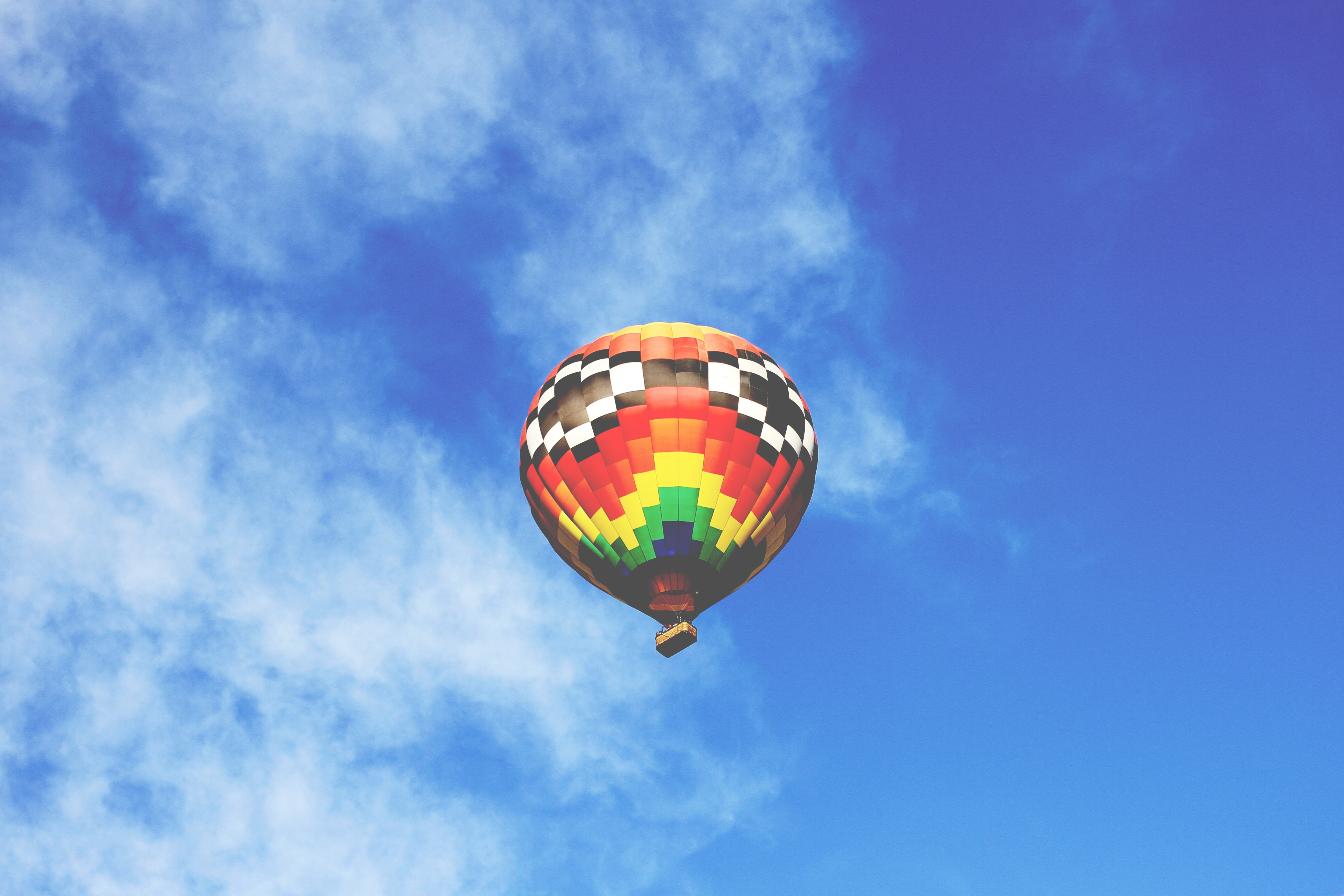 photography of multicolored flying air balloon
