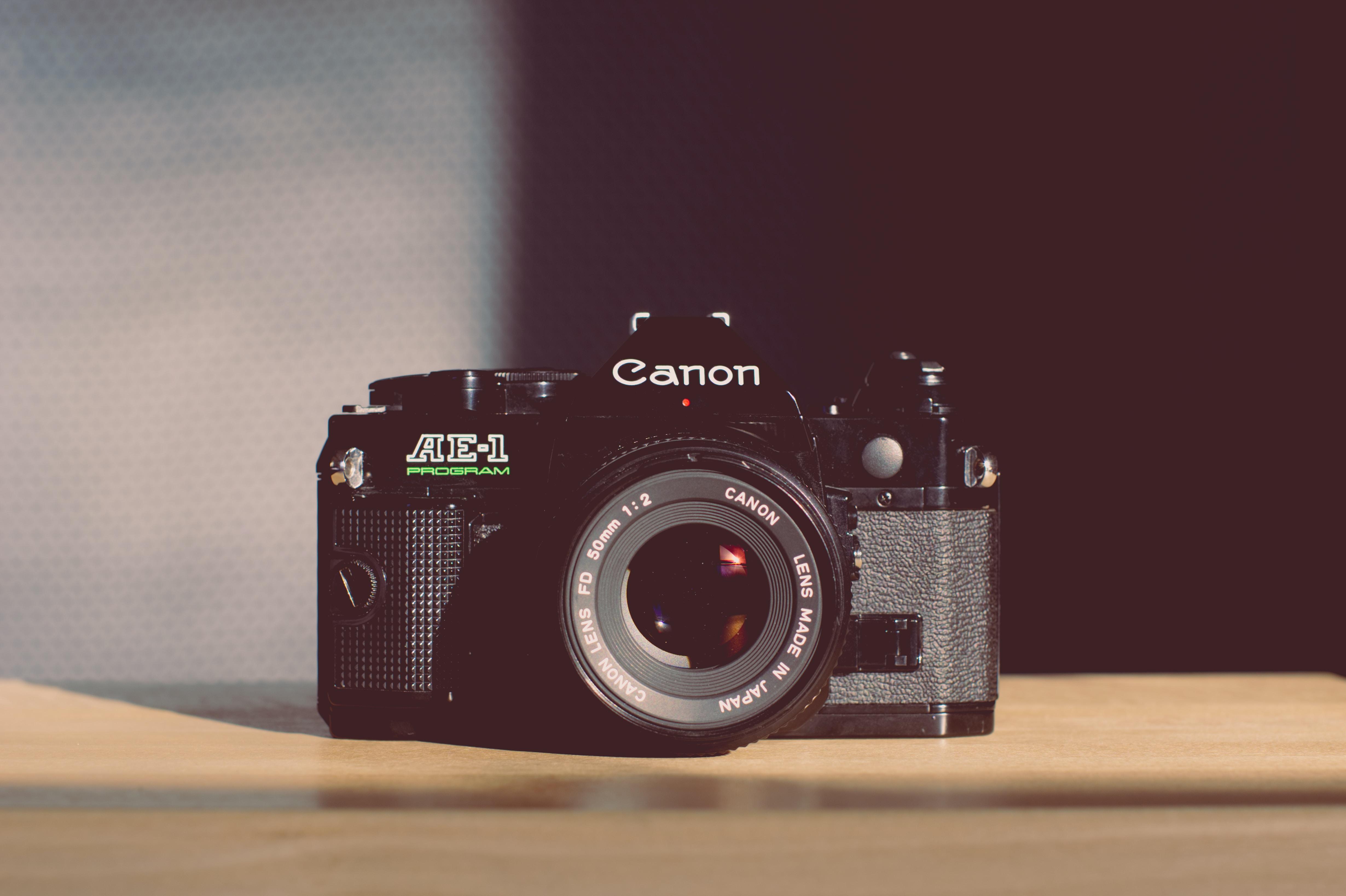 shallow focus photo of Canon camera