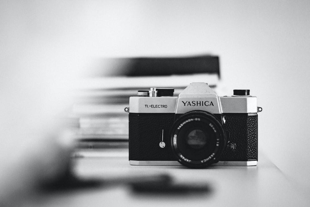gray and black Yashica film camera