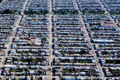 bird's eye view of houses during daytime