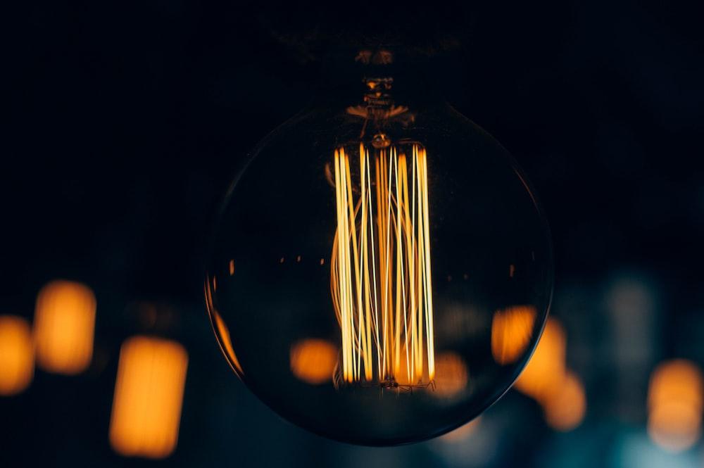 brown light bulb