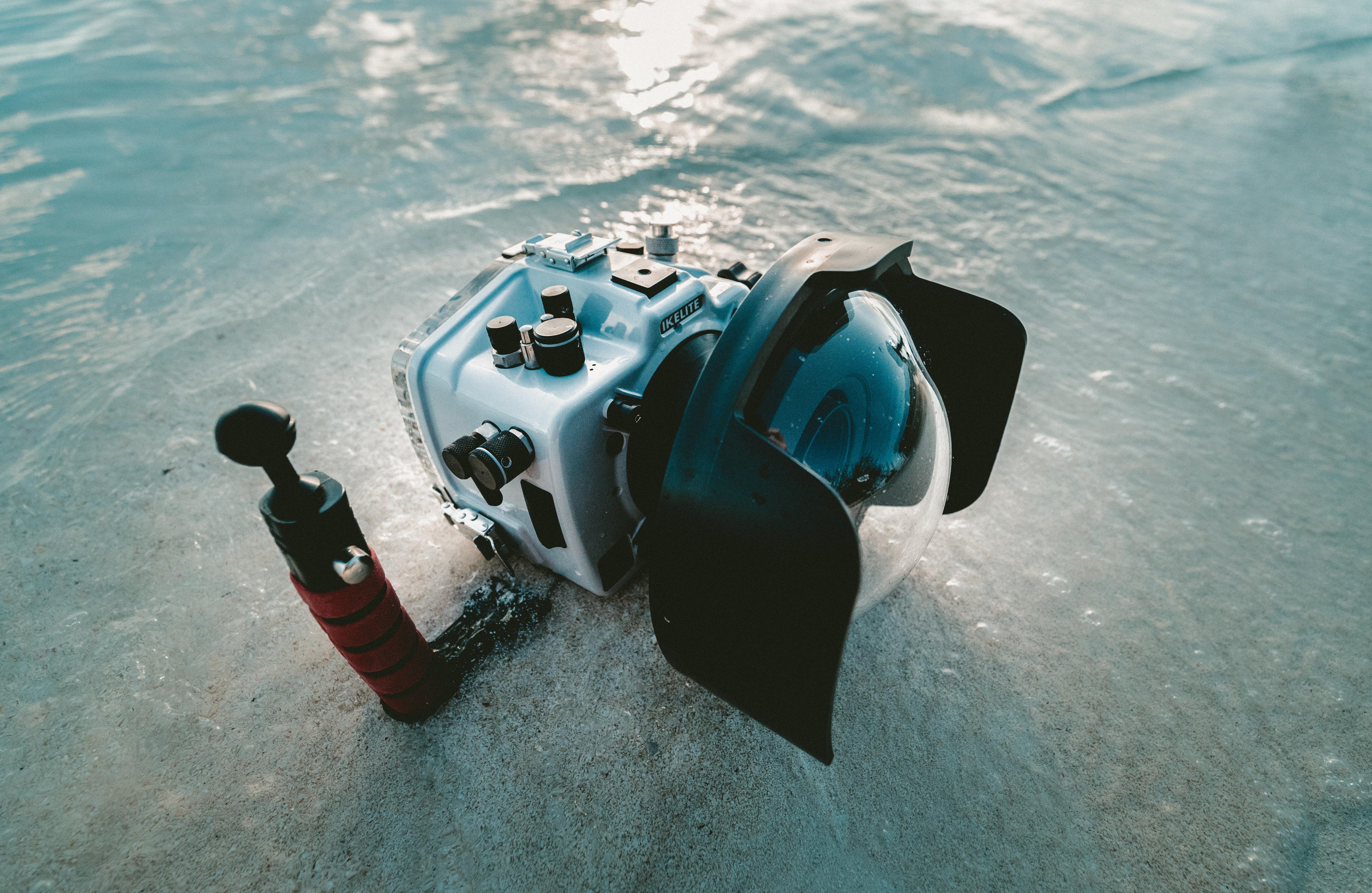 gray and black underwater camera