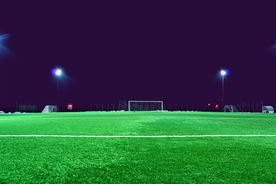 soccer field football teams background