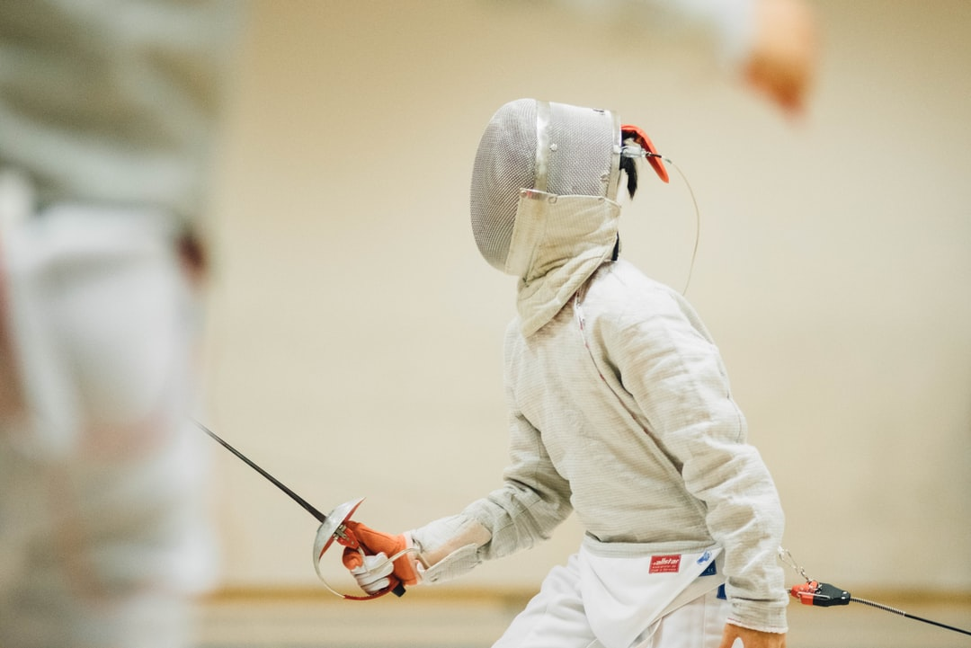 Fencing competition entrant