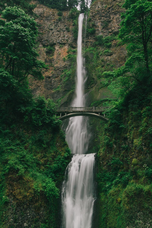 bridge over waterfalls