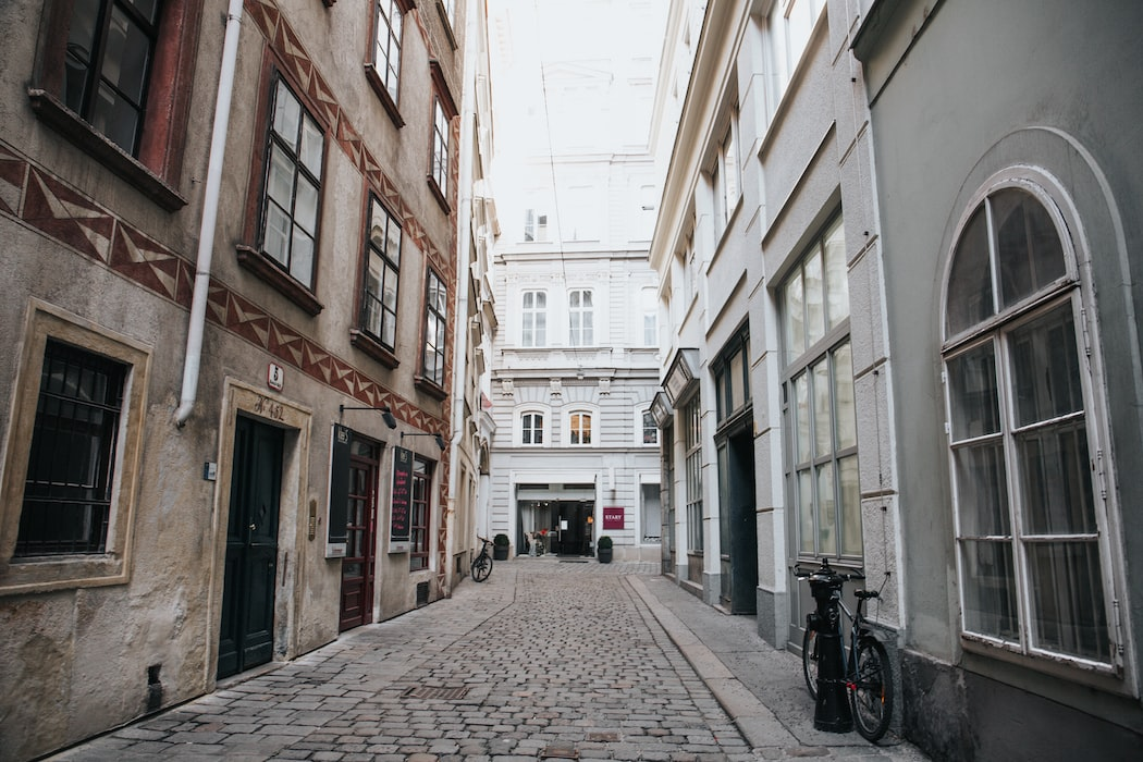 A small street in vienna.