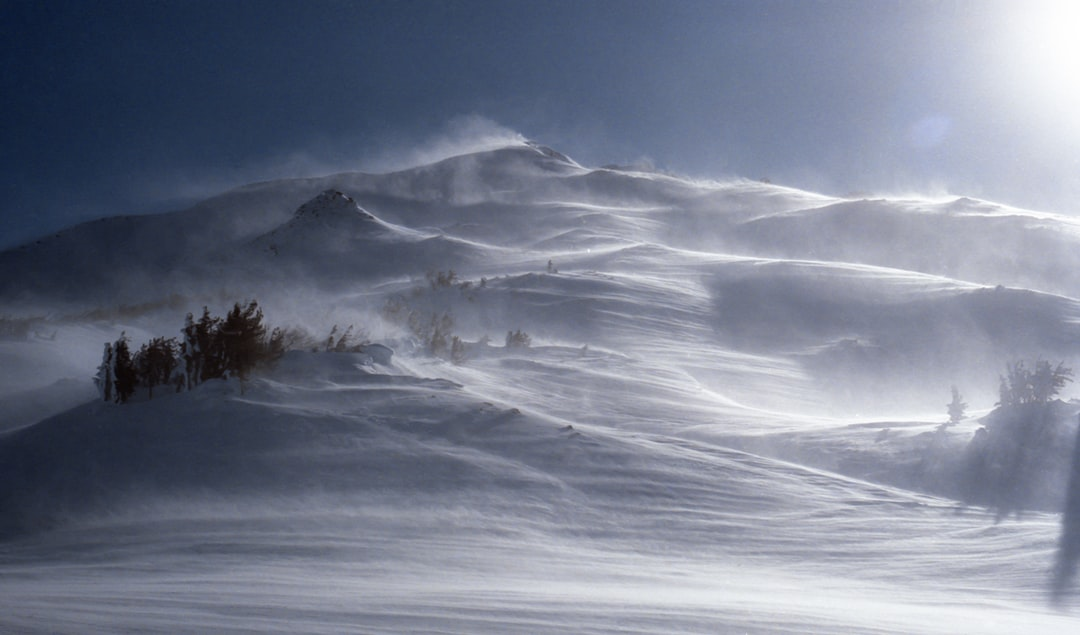 Oregon winter mountain