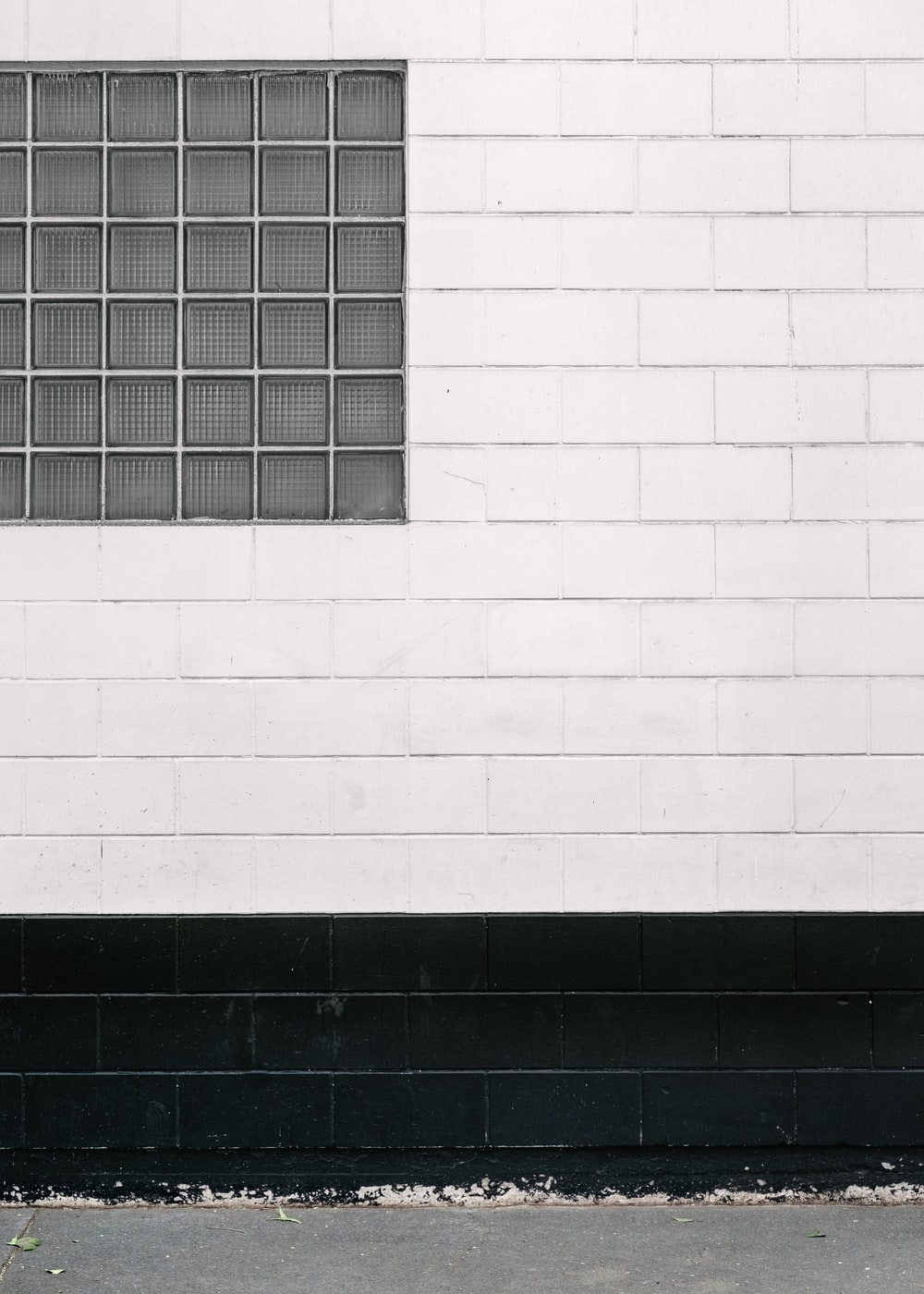 white and black wall