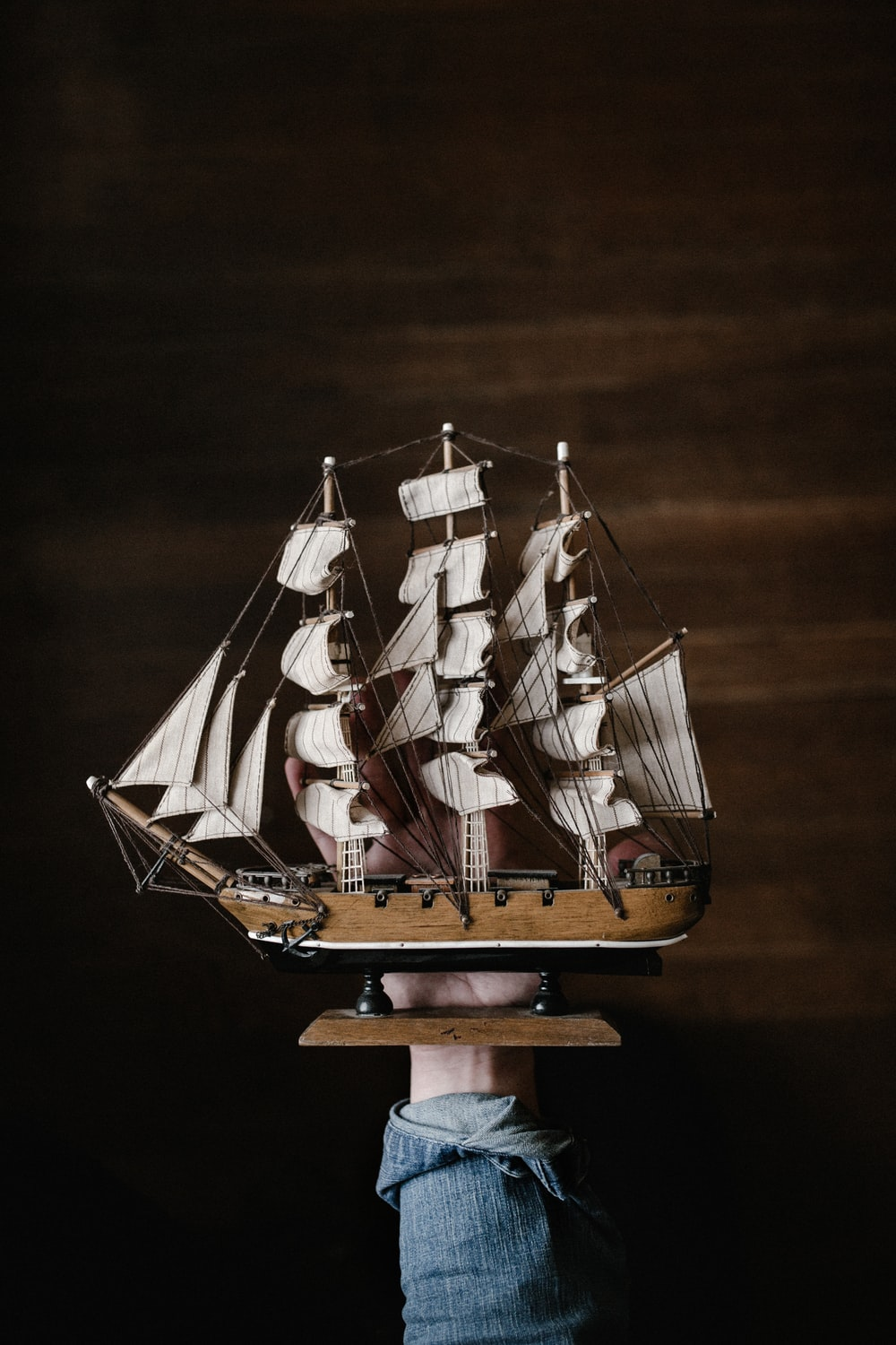 white and brown galleon ship