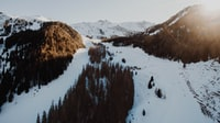 aerial view photography of snow-covered mountain during daytime