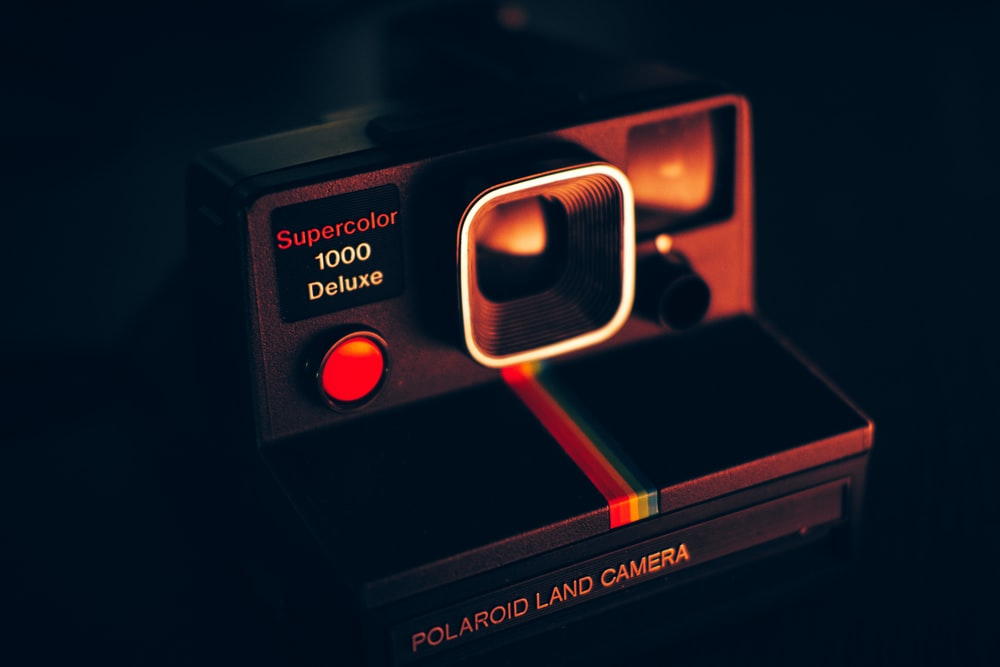 black Polaroid land camera