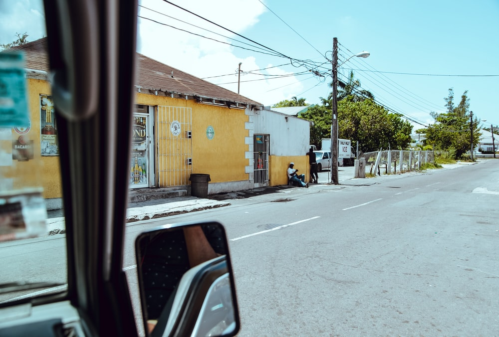 yellow and white building